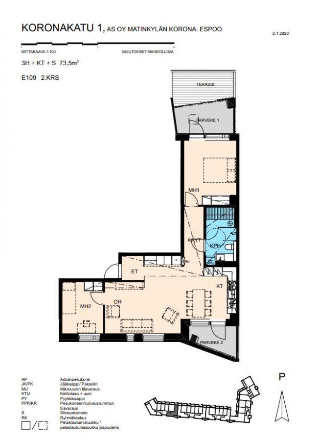 Koronakatu 1 E E109 -
